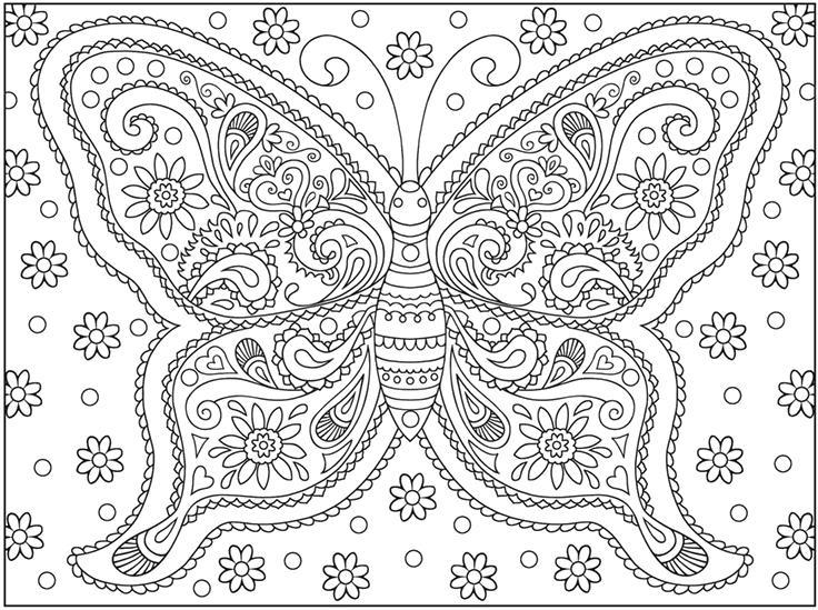 Большая бабочка Лучшие раскраски антистресс