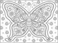Большая бабочка Раскраски для медитации
