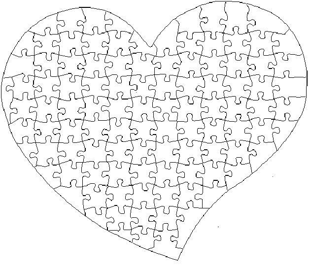Пазл сердце Раскраски антистресс бесплатно