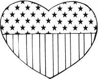 Американское сердце Раскраски антистресс бесплатно