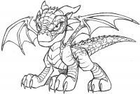 Маленький дракон Антистрессовые раскраски