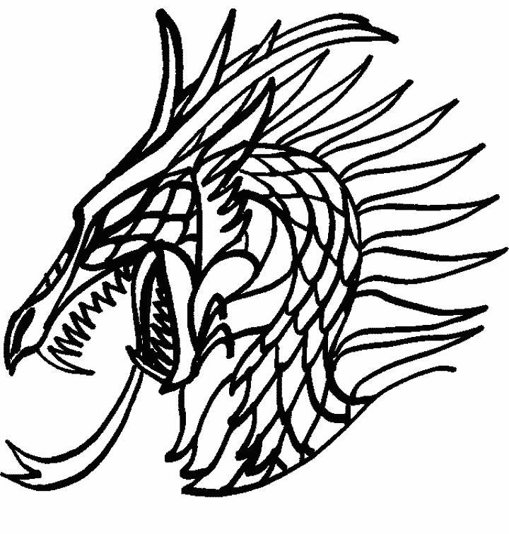 Голова дракона Антистрессовые раскраски