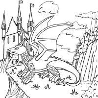 ,драконы Антистрессовые раскраски