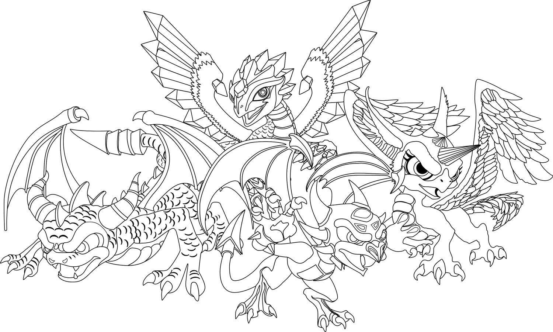 Банда дракончиков Антистрессовые раскраски