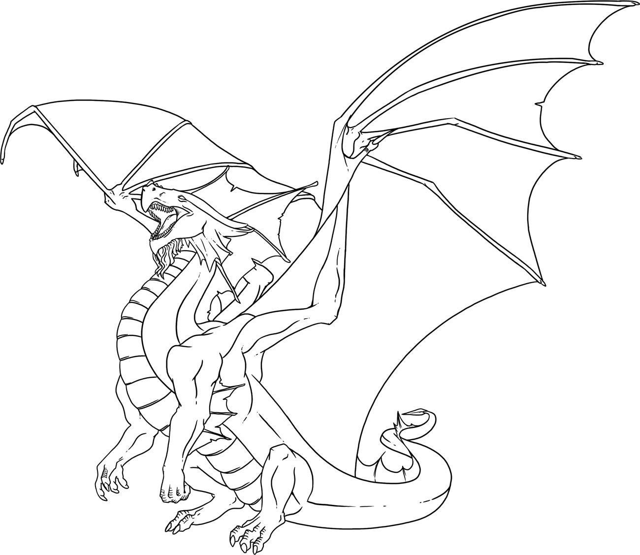 Дракон на взлете Раскраски для взрослых скачать