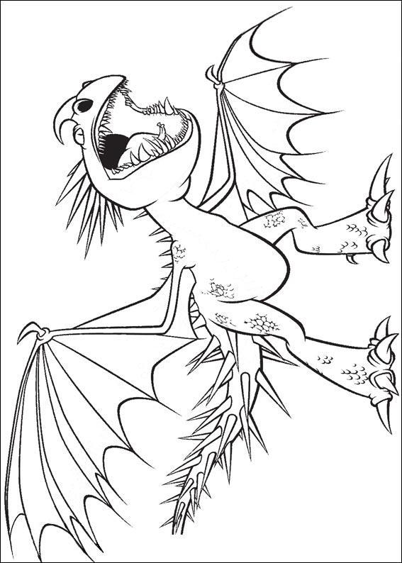 Дракон из мультфильма Раскраски для взрослых скачать