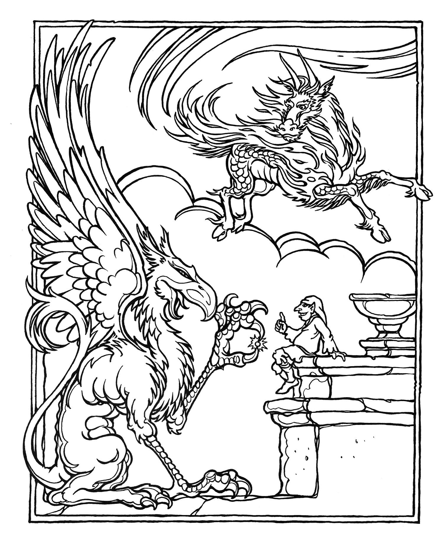 Повелитель драконов Раскраски для взрослых скачать