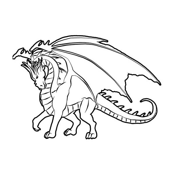 Мощный дракон Раскраски для взрослых скачать