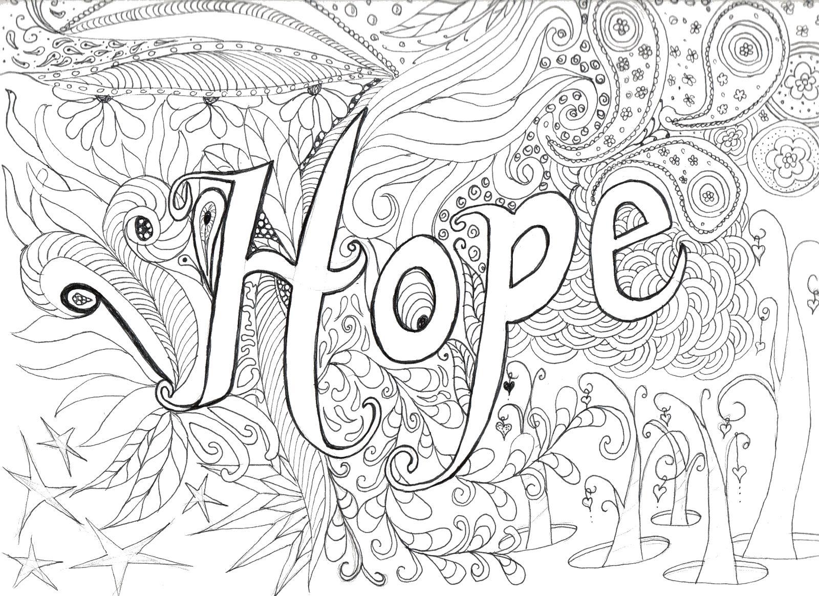 Надежда Раскраски антистресс распечатать