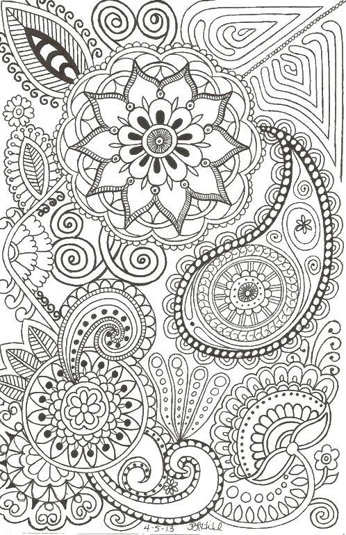 Цветы большие Раскраски для взрослых антистресс