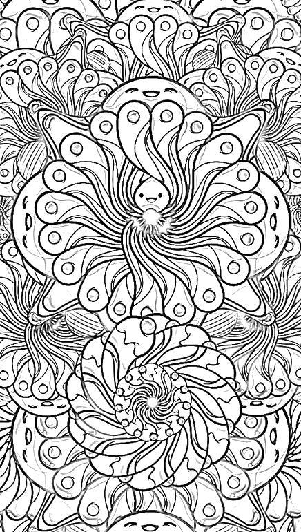 Цветы Раскраски для взрослых скачать