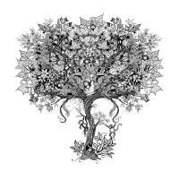 Дерево Раскраски антистресс в хорошем качестве